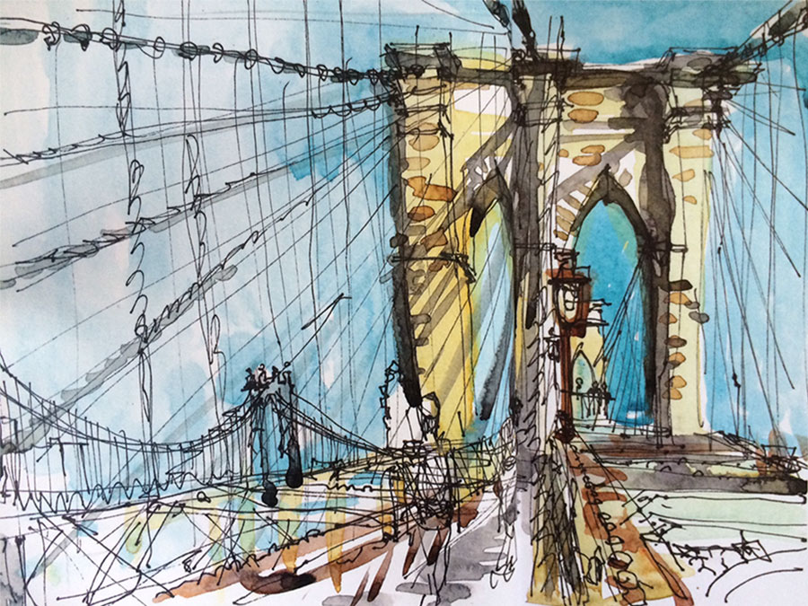 Suhita Shirodkar Brooklyn Bridge